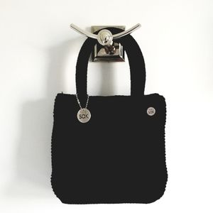 The Sak black crochet handbag purse like new